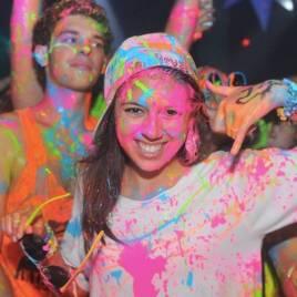 polvos pintura flúor UV