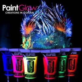 pintura fluorescente mechas luz UV