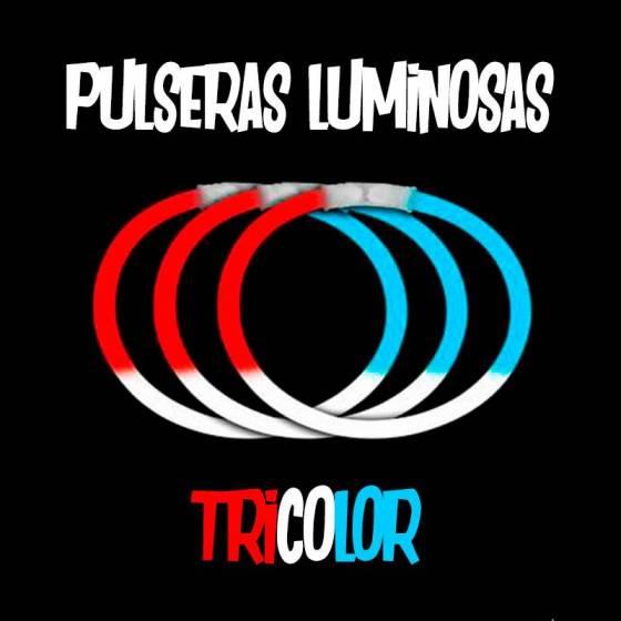Pulseras luminosas Tricolor