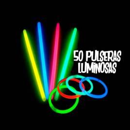 pulseras fluorescentes 50 unidades