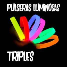 Pulseras Luminosas Triples