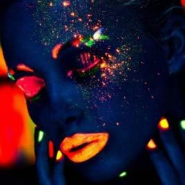 Pintura fluorescente luz UV 12ml