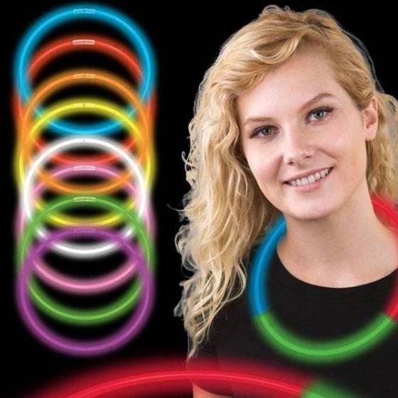 Collares fluorescentes Tricolor