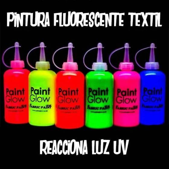 Pintura fluorescente textil 180 ml