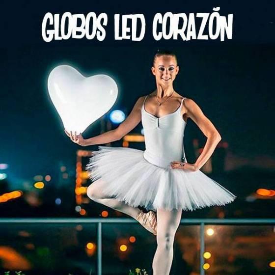 Globos corazón LED botón on off