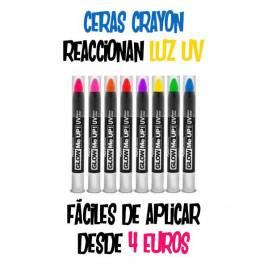 Ceras pintura flúor crayon uv