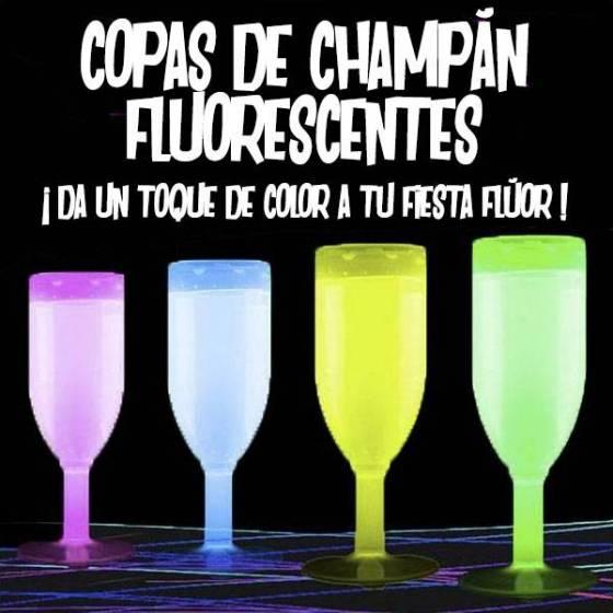 copas fluorescentes champagne 130ml