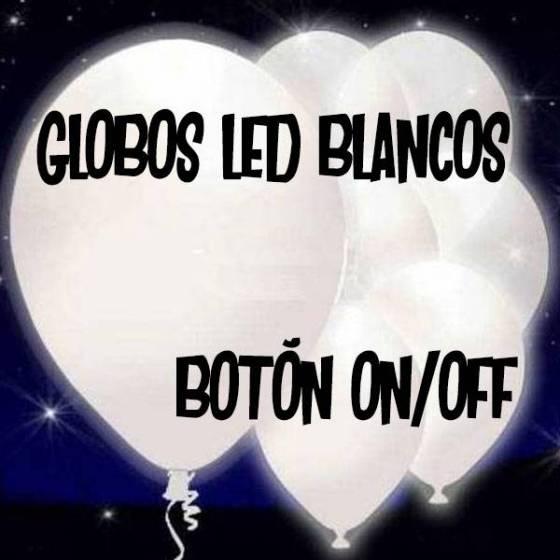 Globos LED blancos redondos