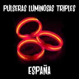 Pulseras fluorescente triple bandera españa