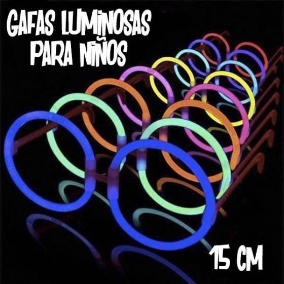 Gafas luminosas redondas