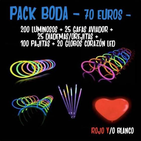 Pack fluorescentes Boda