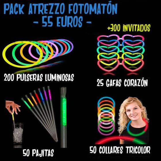 pack atrezzo luminosos fotomaton