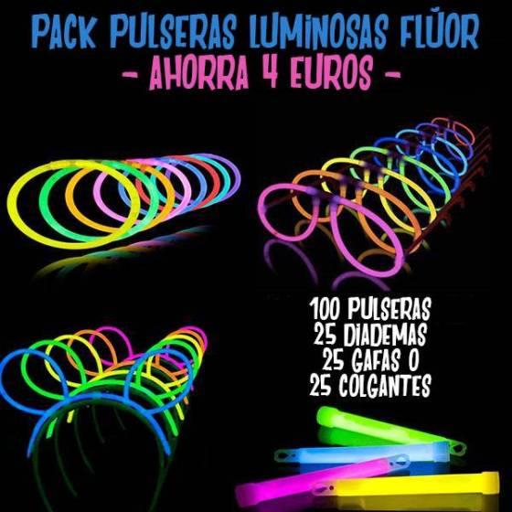 pack pulseras fluor