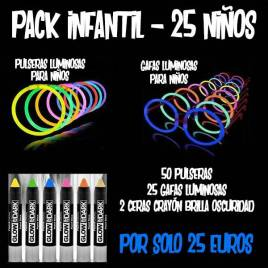 Pack infantil luminosos económico