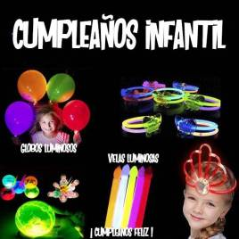 pack cumple infantil luminoso