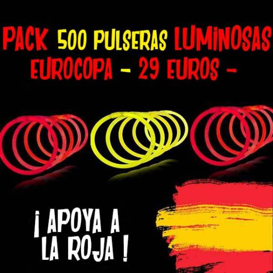 pack barritas luminosas España Eurocopa