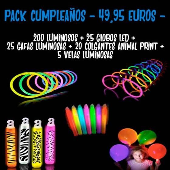 pack luminosos fiesta cumpleaños