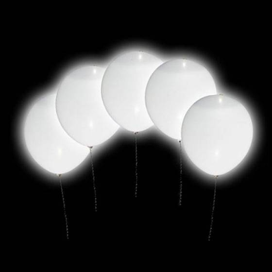 Globos LED redondos blancos