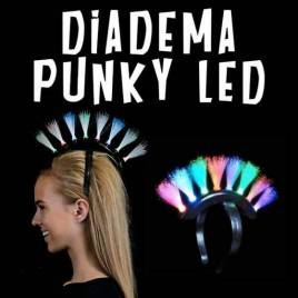 Diadema Luminosa LED Cresta Punky