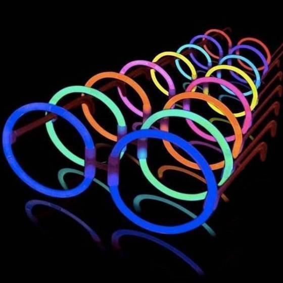 Gafas fluorescentes redondas