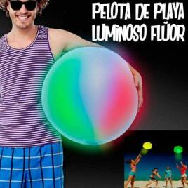 pelota playa luminosa fluor