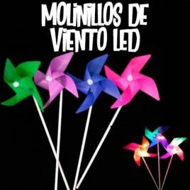 Molinillos de viento LED luminosos