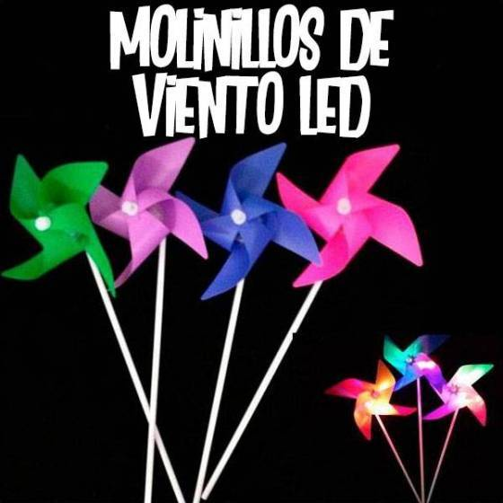 Molinillos de viento LED luminosos