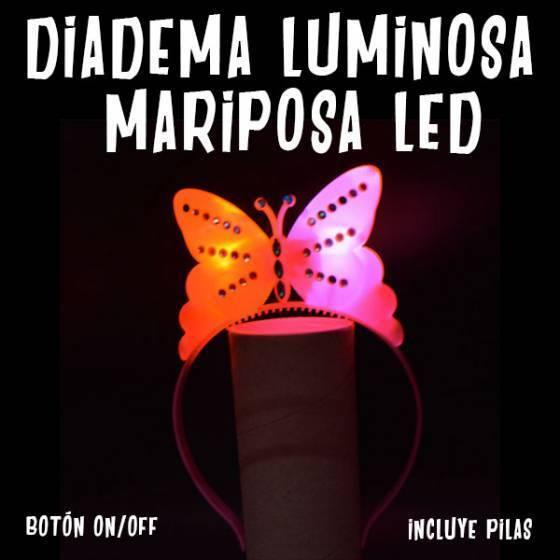Diadema Luminosa Mariposa LED