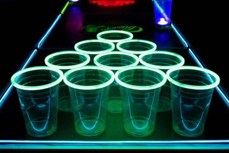 Vasos Luminosos Beer Pong